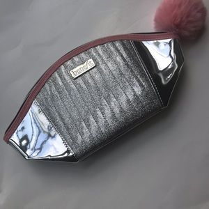 Benefit Silver Make-Up Bag